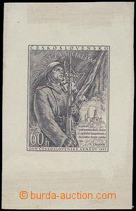 80481 - 1953 Pof.751 ZT  Den ČSA, zkusmý tisk v hnědočerné barv