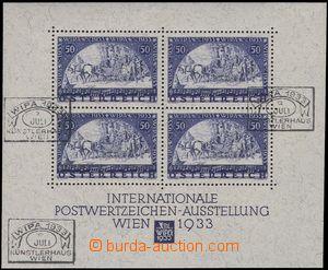 80495 - 1933 Mi.Bl.1, miniature sheet WIPA, 3x special postmark WIPA