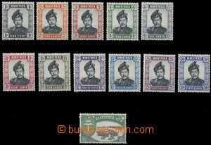 80496 - 1952 Mi.78-89 (SG.100-111), Sultan Saifuddin, line 12  pcs,