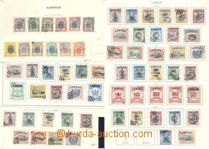80499 - 1897-06 LABUAN  comp. of stamps mounted on/for parts album s