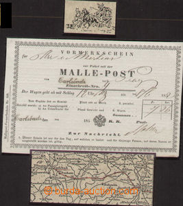 80500 - 1852 COACH POST  blank form Malle - Post for ride from K. Va