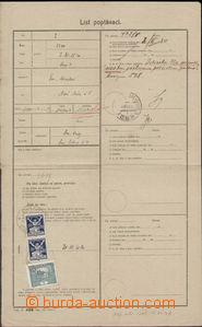 80501 - 1920 blank form - Request sheet, print. č.438, Czech variet