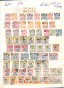80504 - 1886-54 NORTH BORNEO  selection according to supplier 200 pc