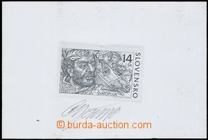 80513 - 2001 Zsf.239ZT, Prince Svatopluk, trial print, black color,