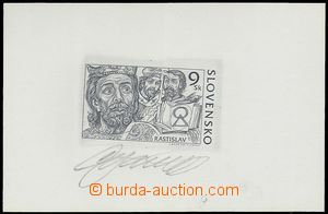 80514 - 2001 Zsf.237ZT, Prince Rastislav, trial print, black color,