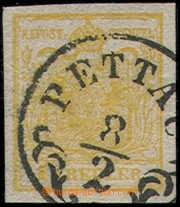 80519 - 1850 Mi.1X, HP, type Ib, 1 Kr shade orange, almost complete
