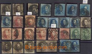 80528 - 1849-58 selection of 26 pcs of classical stamp + 2x pair, it