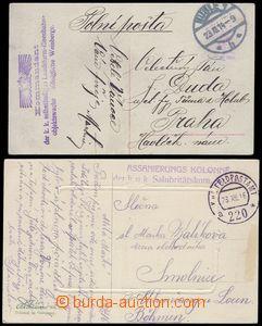 80549 - 1914-16 ASSANIERUNGS KOLONNE   fialové útvarové raz. na p