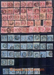80560 - 1850-62 sestava více než 100ks zn. 3Kr, 6Kr a 12Kr, s obl�