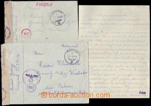 80567 - 1944 2. prapor FP 27716C, Itálie, 2 dopisy od stejného př