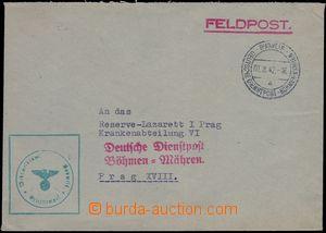 80571 - 1942 letter German FP sent via D. D. B.u.M. BUDWEIS 1.8.42,