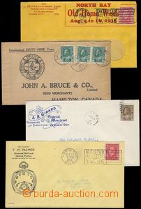 80580 - 1916-35 comp. 4 pcs of entires with advertising added prints