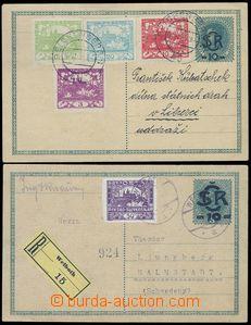 80599 - 1919 CDV1 zaslaná jako R do Švédska, DR WELBOTH (datum ne