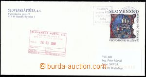 80607 - 2008 CSO?, p.stat official envelope with additional-printing