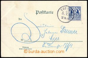 80611 - 1899 MUNICH  color postcard franked with. private stmp COURI