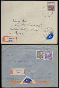 80627 - 1938-39 DELIVERY  comp. 2 pcs of R letters with usage blue d