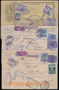 80628 - 1916-11 3 pcs of whole international dispatch notes, 2x with