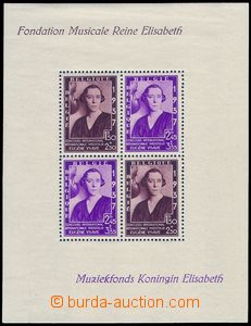 80649 - 1937 Mi.Bl.6 (Mi.455-6), Musical fund queen Elizabeth, in up