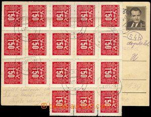 80653 - 1953 CDV109 Gottwald sent 3.VI.53 from Karlové Studánky, a