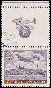 80677 - 1946 Pof.L22N KH, Letecké motivy, nevydaná známka v hněd