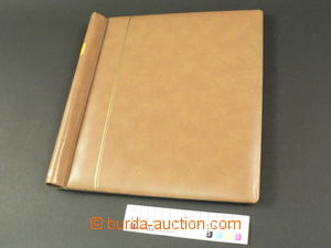 80684 -  spring folder Schaubek, padded, brown, as new