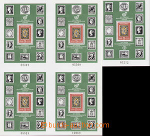 80695 - 1979 Mi.Blok 91 + block of four 4x Block 91 Day of Stamp (Mi
