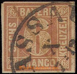 80723 - 1849 Mi.4I., 6Kr červenohnědá, dobrý střih, hledaná zn