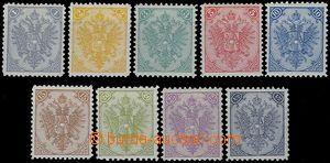 80735 - 1879 Mi.1-9 II., knihtisk, kompletní série, kat. 250€