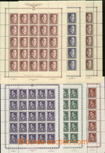 80746 - 1941-44 GENERAL GOVERNMENT  Mi.65 8 pcs of printing sheet wi