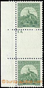 80764 - 1933 Pof.273M Nitra, 2-známkové meziarší s levým okraje