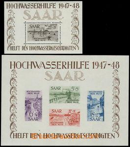 80766 - 1948 Mi.Bl.1-2, Pomoc při povodni, sestava 2ks aršíků, a