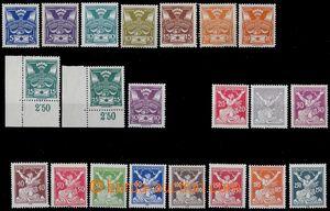 80775 -  Pof.143-161 Holubice + OR, základní řady obou sérií, u
