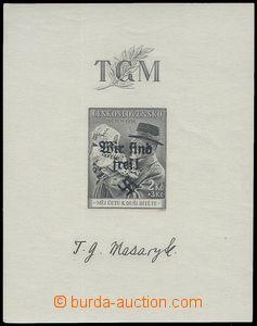 80783 - 1938 Reichenberg-Maffersdorf Mi.Bl.2, zk. Richter, kat. 850�