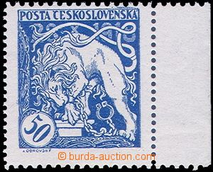 80785 -  Pof.29B,  50h blue, without added print, line perf 11½