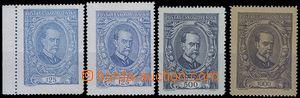 80787 -  Pof.140-142, Pof.140 oba typy, 1x okraj, hodnota 1000h VV l