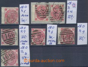 80790 - 1867 Mi.28, 3P red, comp. 7 pcs of stamps, plate 5-10