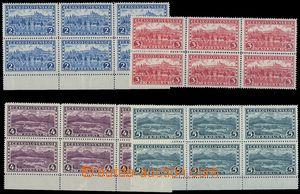 80809 - 1926 Pof.229-32, Praha-Tatry bez průsvitky, v 6-blocích, z