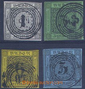 80814 - 1853-54 Mi.5-7, 8, Numeral in Circle, c.v.. 110€