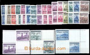 80817 - 1939 Pof.1-19, 2 kompletní série, hodnoty 4Kč - 10Kč 1x