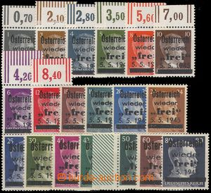 80845 - 1945 local issue Losenstein, 19 values German stamp. with bl