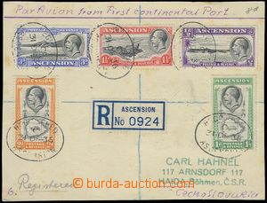 80847 - 1936 correspondence card with Mi.22-26, CDS Registered/ Asce
