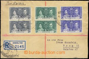 80859 - 1938 Reg letter with Mi.104-106 in vertical pairs, CDS Regis