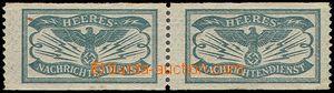 80860 - 1910-45 Heeres Nachrichtendienst 2-páska zelených cenzurn�