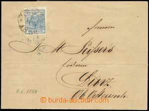80865 - 1850 cover skádaného letter with issue I 9 Kreuzer with CD