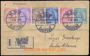 80866 - 1914 Reg letter franked by complete set Mi.29-34. CDS Vlonë