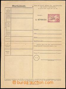 80879 - 1944 Mukačevský přetisk, maďarský dobytčí pas 2P s p�