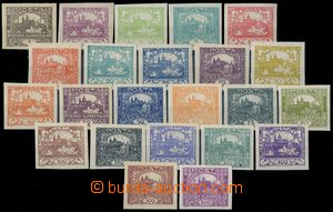 80895 -  Pof.1-26 basic line stamps, 23 pcs of, good quality, withou