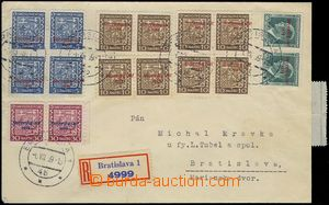 80913 - 1939 Reg letter sent in the place, franked with. overprint s