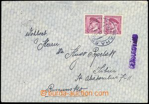 80914 - 1939 CENSORSHIP  letter to Rumania, with Pof.303 2x, CDS PRA
