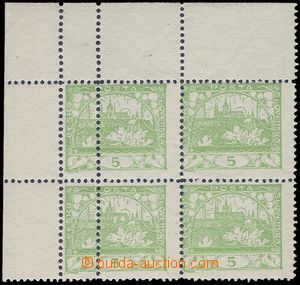 80956 -  Pof.3D, 5h light green, line perforation 11½;, upper c